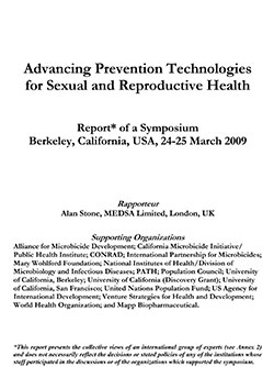 Advancing Prevention Technologies for Sexual and Reproductive Health 2009