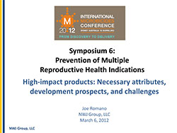 Prevention of Multiple Reproductive Health Indications