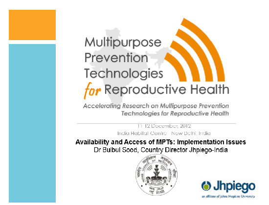 Availability and Access of MPTs: Implementation Issues
