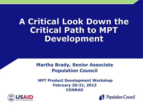 A Critical Look Down the Critical Path to MPT Development