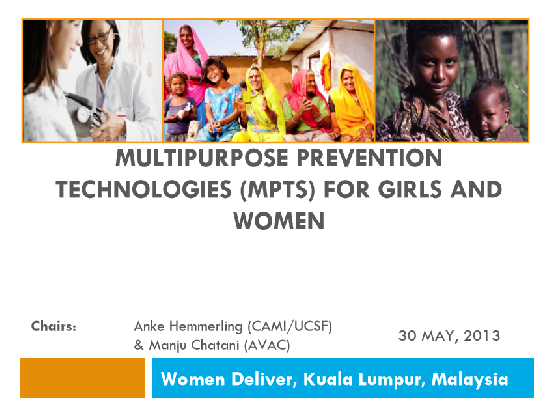 Multipurpose Prevention Technologies (MPTs) for Girls and Women: Introduction