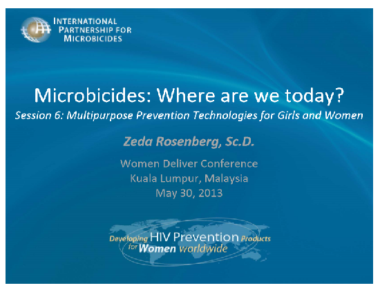Microbicides, where are we today?