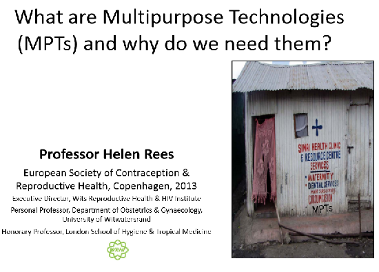 What are MPTs and why do we need them? What's available now and on the horizon - Rees