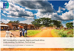 MPT Acceptability in Uganda, Nigeria and South Africa