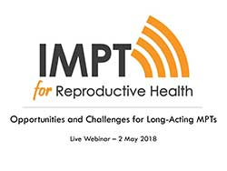 Opportunities and Challenges for Long-Acting MPTs