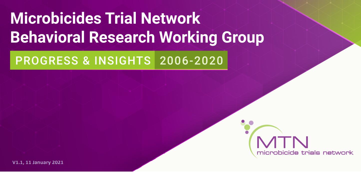 Microbicide Trials Network (MTN) Socio-behavioral Research Compendium